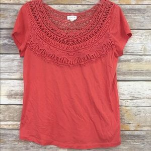 Meadow Rue- Anthropologie Crochet Top